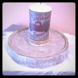 Custom made Candle and Stunning Candle Holder